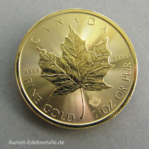 1-Unze-Feingold-9999-Gold Maple-Leaf