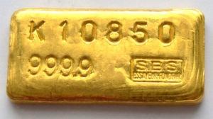 100-Gramm-Goldbarren- Schweiz