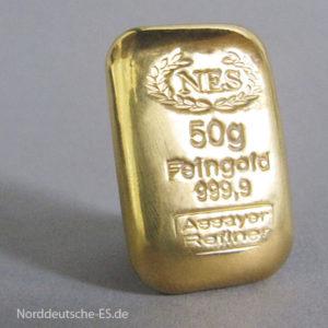 Anlagebarren norddeutsche-es-9999-goldbarren-50g