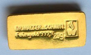 Sammlerbarren 20-Gramm-Walther und Schmitt