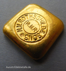 Goldbarren Rothschild