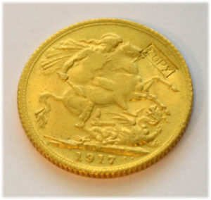 Faelschung One Pound Sovereign-1917